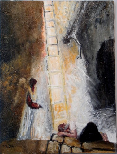 "Jacobs Ladder Two 24"" x 18"""