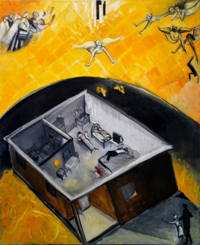 "Fogel Massacre / Itamar  60"" x 48"""