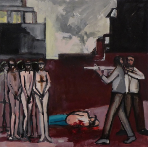 "Slaughter of the Men of Shechem 24"" x 24"""