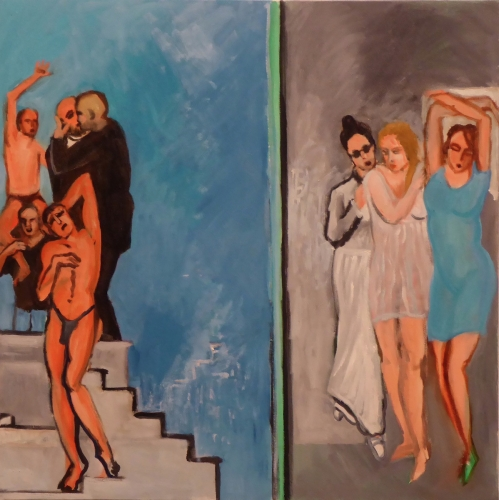 "Men of Sodom & Lot's Wife & Daughters 24"" X 24"""