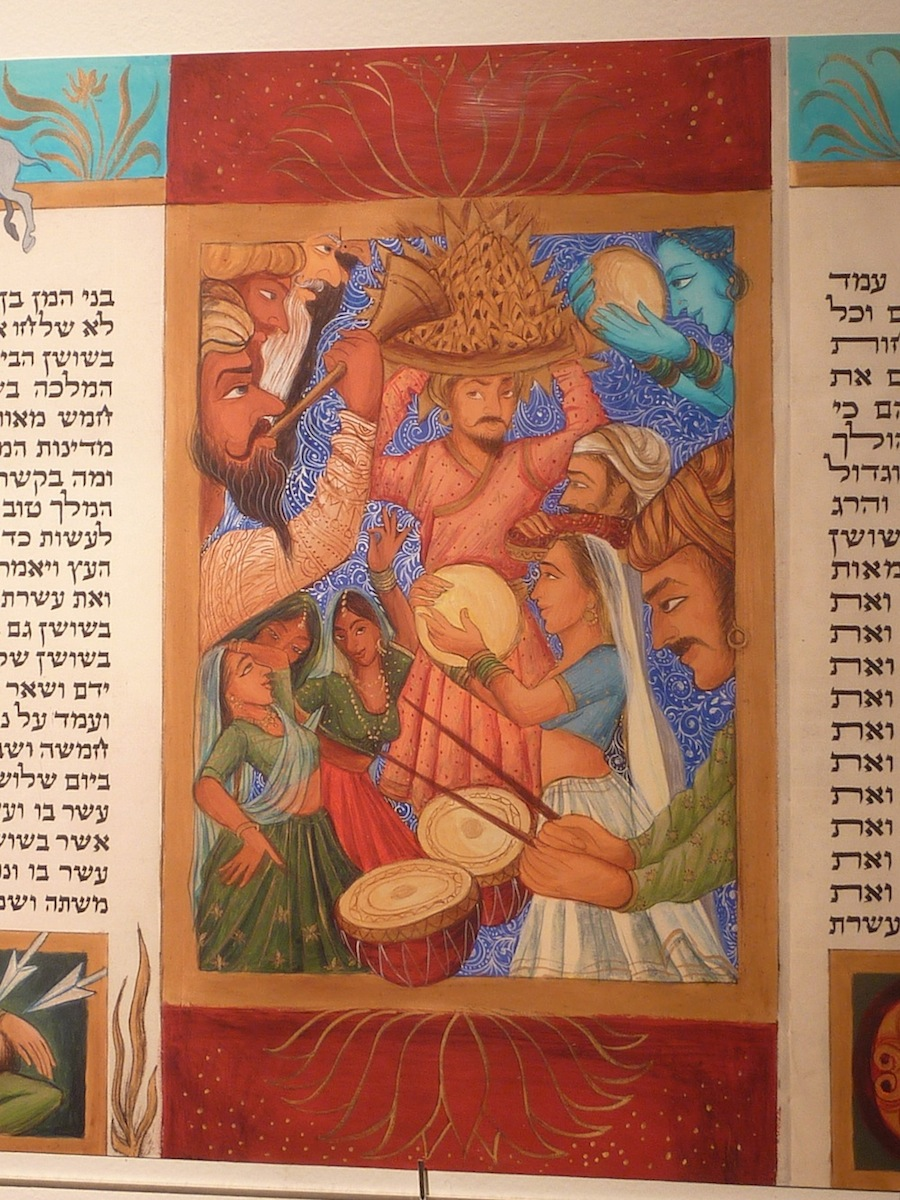 Triumph of the Jews; gouache on parchment by Siona Benjamin Courtesy the artist