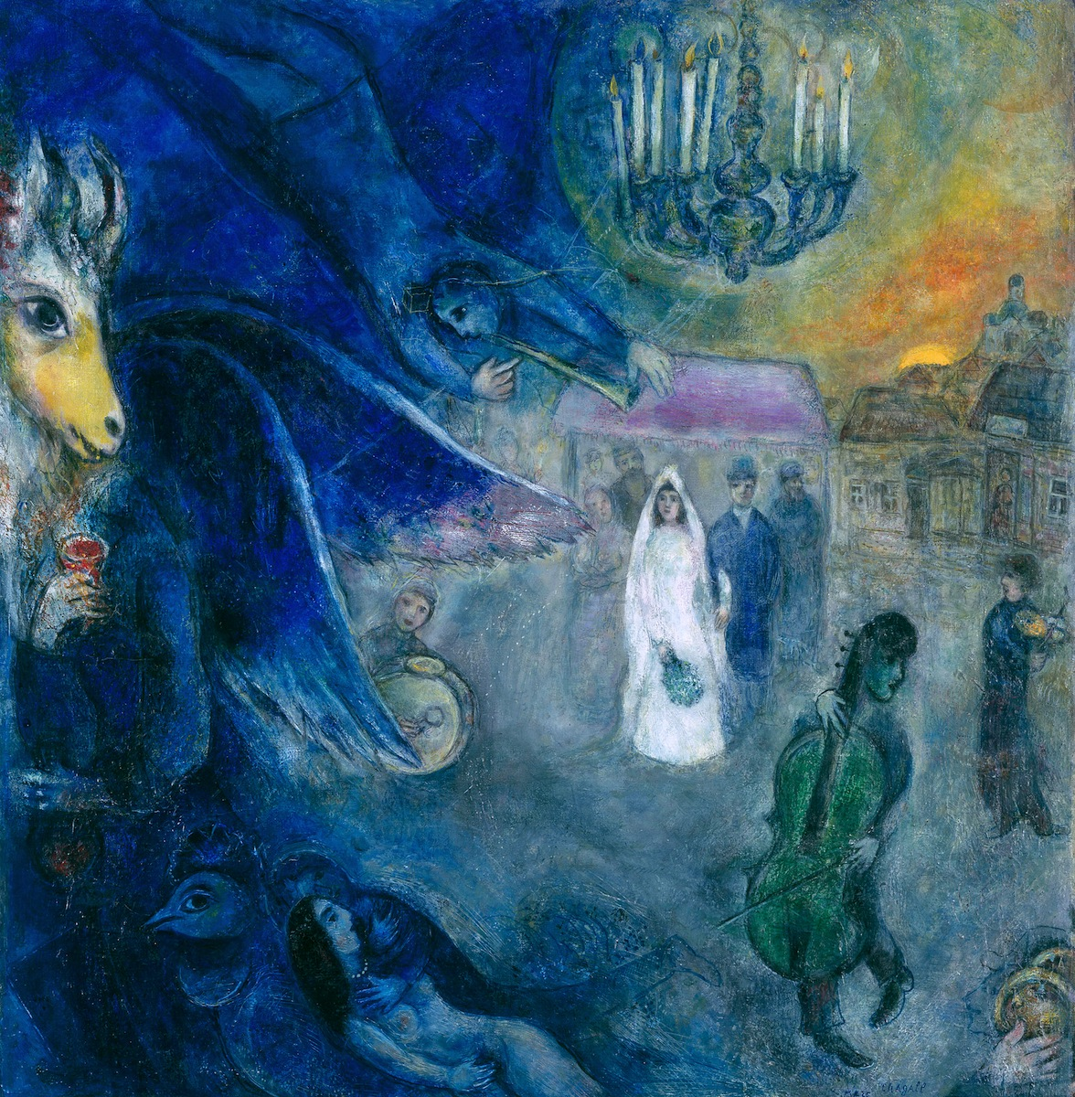 The Wedding Candles (1945); oil on canvas by Marc Chagall Kunsthaus Zurich. © 2013 Artists Rights Society (ARS), New York / ADAGP, Paris