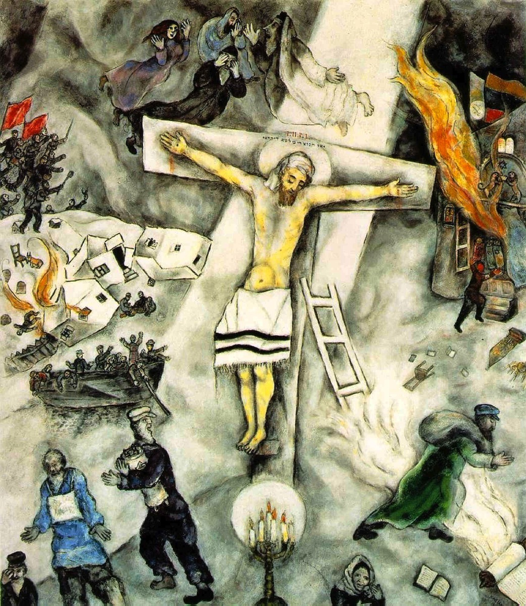 White Crucifixion (1938); oil on canvas by Marc Chagall, Art Institute of Chicago, gift of Alfred S. Alschuler