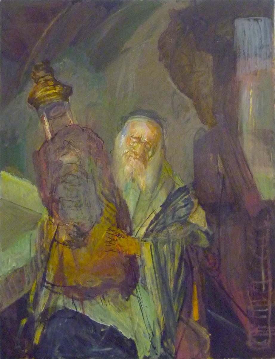 Jew with Torah (#2) (1990s), oil on canvas by Hyman Bloom Courtesy White Box and Estate of Hyman Bloom