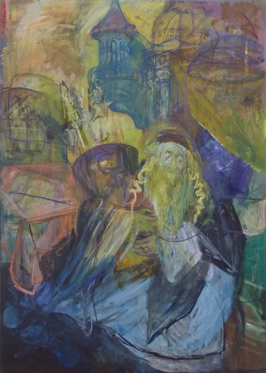 Jew with Torah (#7) (1990's), oil on canvas by Hyman Bloom Courtesy White Box and Estate of Hyman Bloom