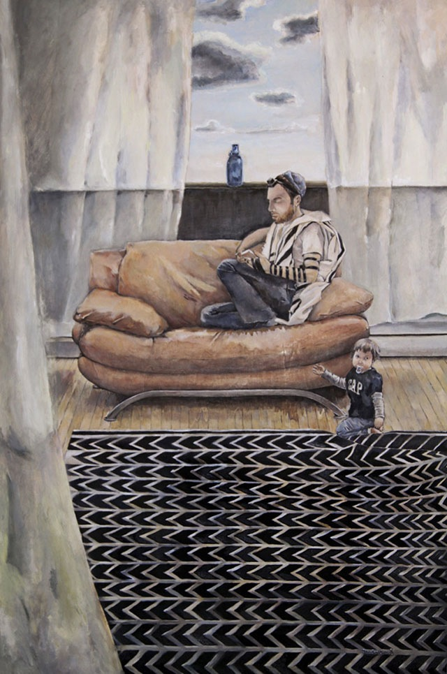 Sunday Morning in the Tent of Abraham  (36 x 24), Oil on canvas by Elke Reva Sudin  Courtesy Hadas Gallery