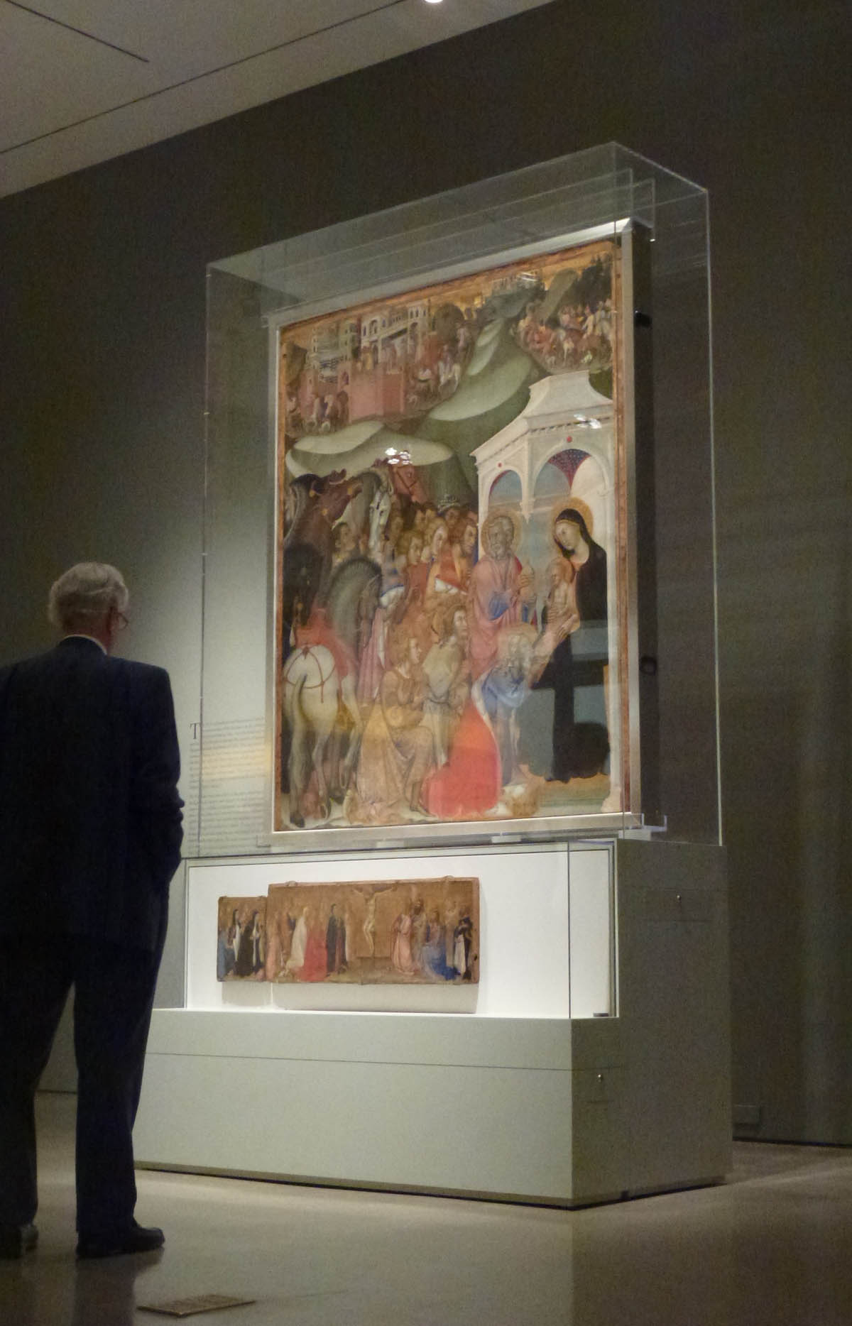 Adoration of the Magi (with predella) Installation view - Tempera on panel by Bartolo di Fredi Courtesy Museum of Biblical Art (Photo: McBee)