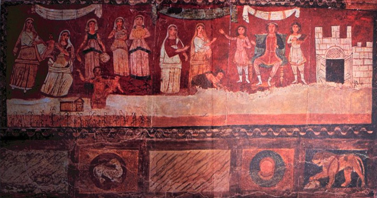 Rescuing Moses - Dura Europos (245 CE) Courtesy National Museum, Damascus, Syria