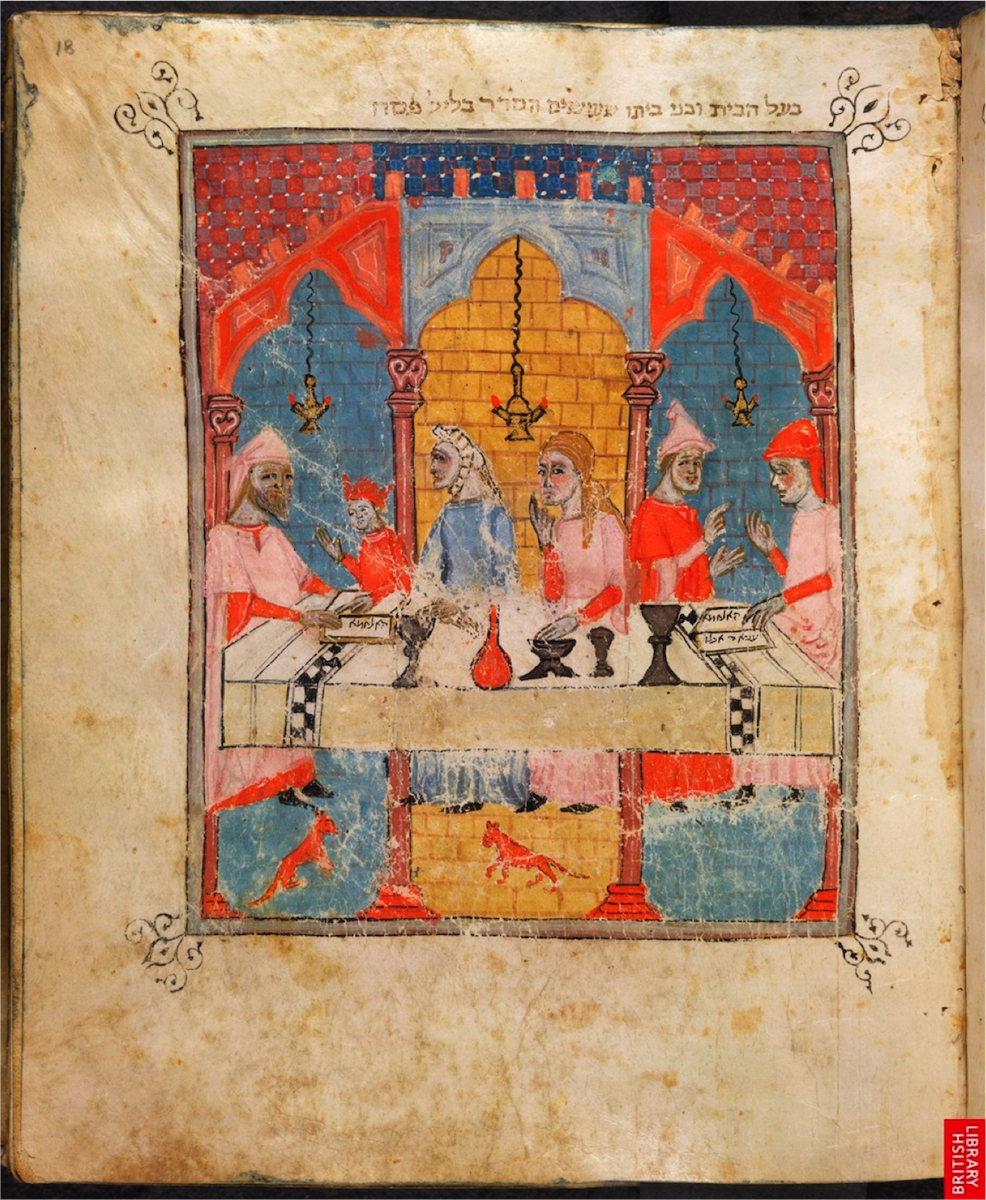The Seder - Sister Haggadah, (1340), MS Or 2884;Fol.18: Courtesy British Library, London