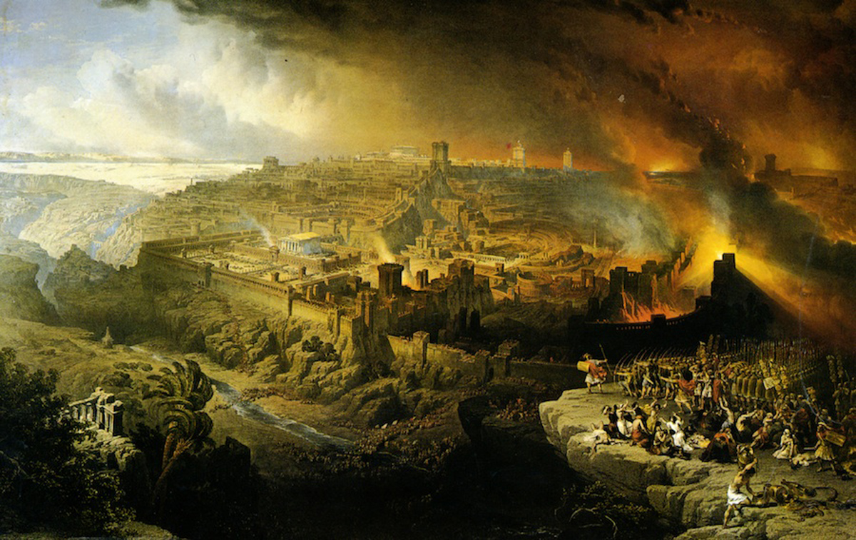 The Destruction of Jerusalem (1849), lithograph from a painting by David Roberts Courtesy Yeshiva University Museum