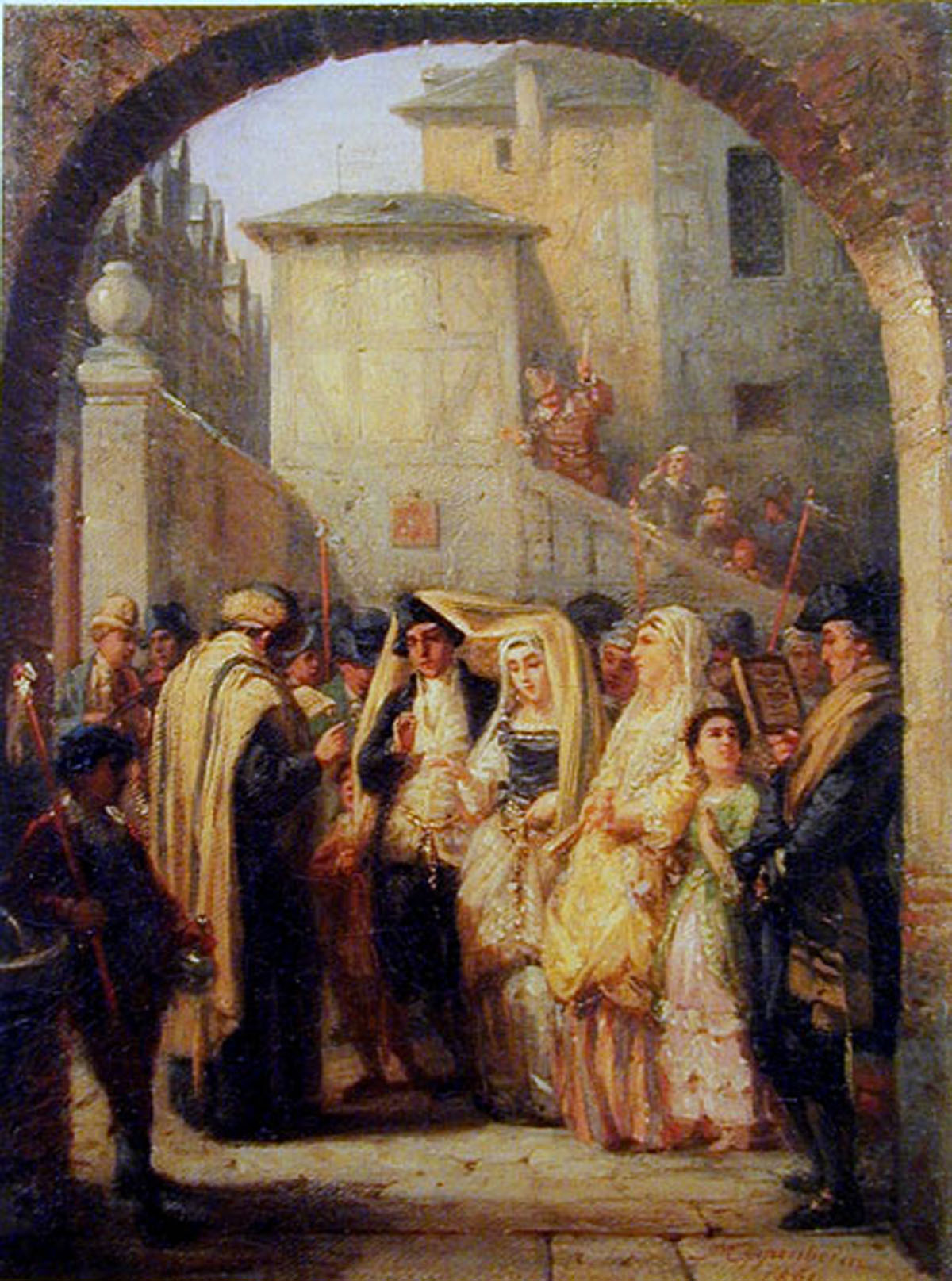 The Wedding (1861) by Moritz Oppenheim