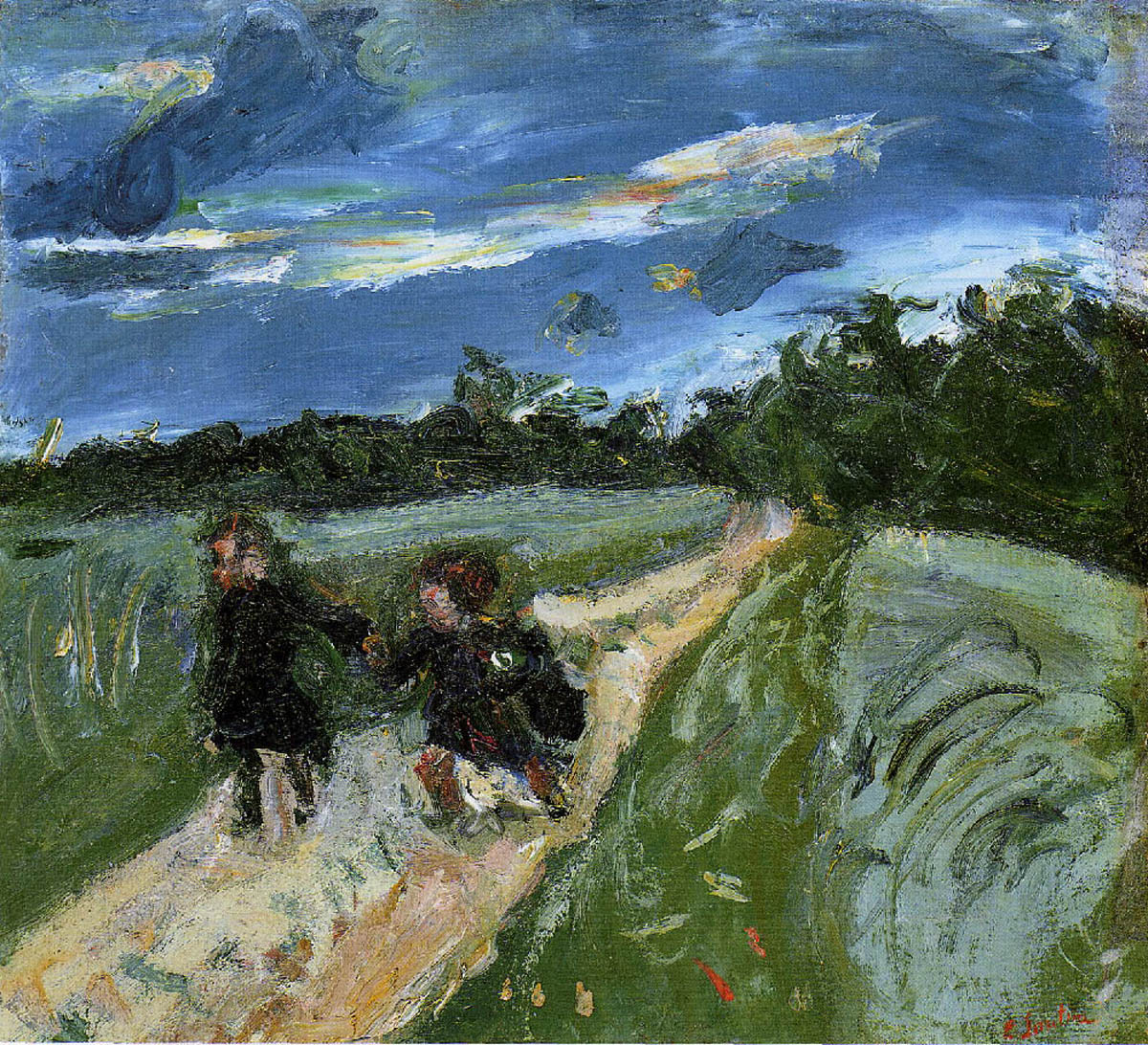 Return from School after the Storm, (c. 1939) Oil on canvas by Chaim Soutine Courtesy The Phillips Collection, Washington
