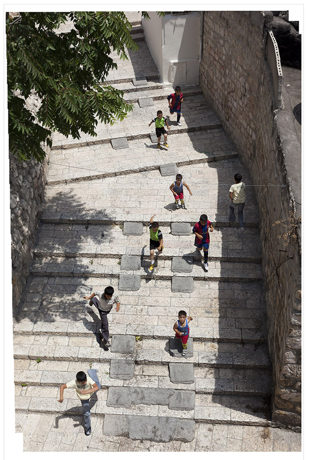 Tallit Steps Revisited (19 ¾ x 13) digital print by Bill Aron Courtesy 92nd Street Y