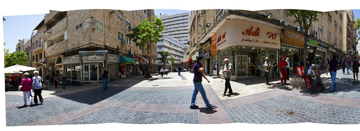 Ben Yehuda Street (detail) digital print by Bill Aron Courtesy 92nd Street Y