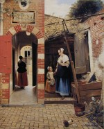 The Courtyard of a House in Delft (1658) Oil on canvas by Pieter de Hooch The Metropolitan Museum of Art, New York Lent by The National Gallery, London