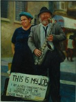 This is My Job, oil on canvas by N. Bingham Courtesy the Kupferstein Collection