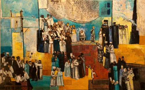 "Moses and Children of Israel 59"" x 95"""