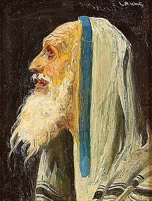 In Prayer, oil on board by Alfred Lakos Courtesy Kestenbaum & Company