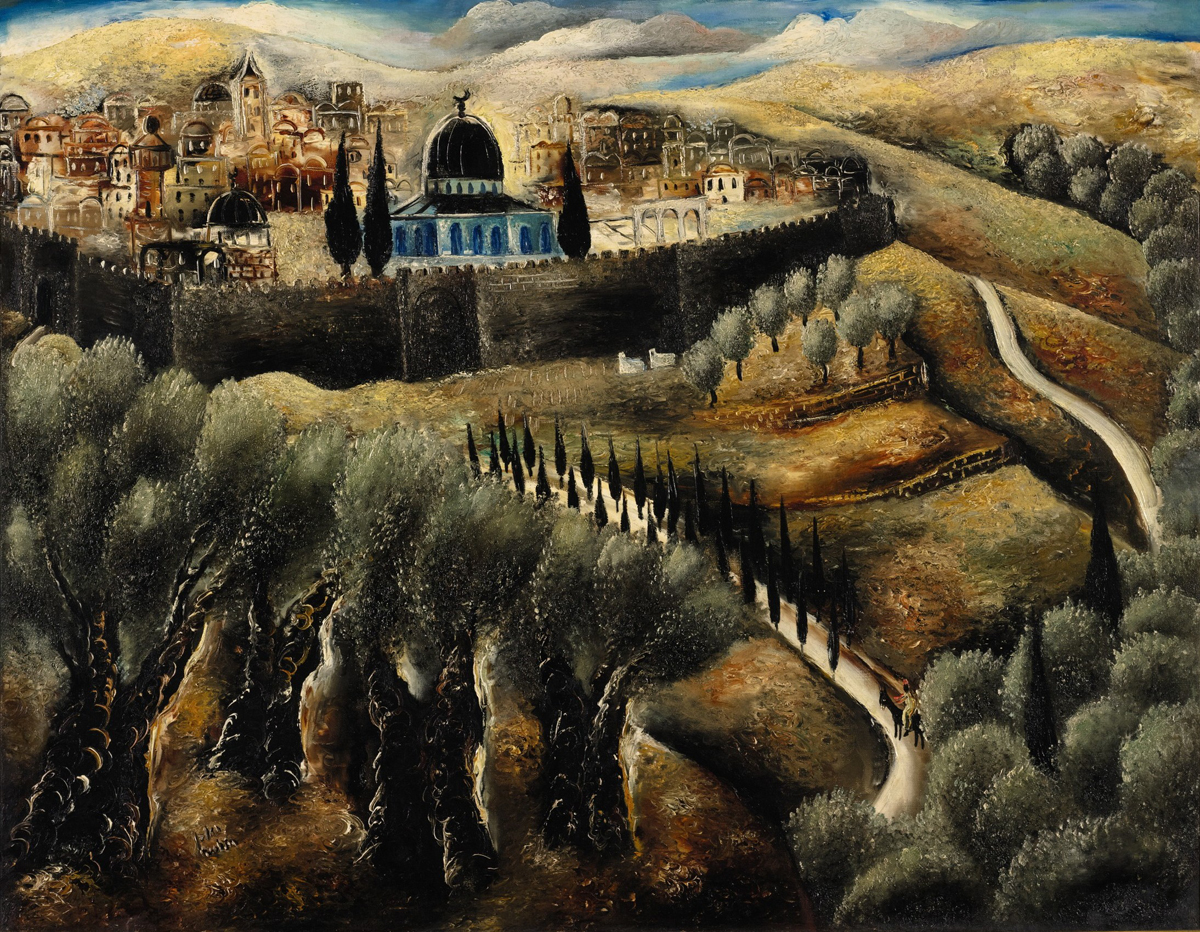 Jerusalem Seen from Mount Scopus, oil on canvas by Reuven Rubin Courtesy Sotheby's