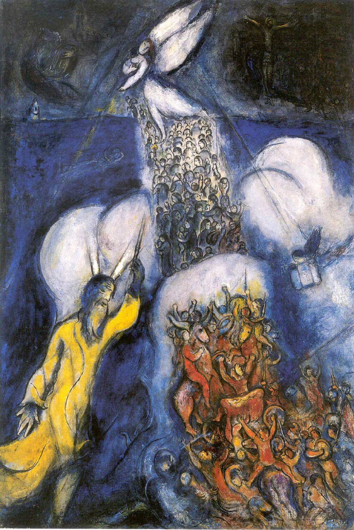 Crossing the Red Sea (1955) oil on canvas by Marc Chagall Courtesy National Museum Marc Chagall, Nice