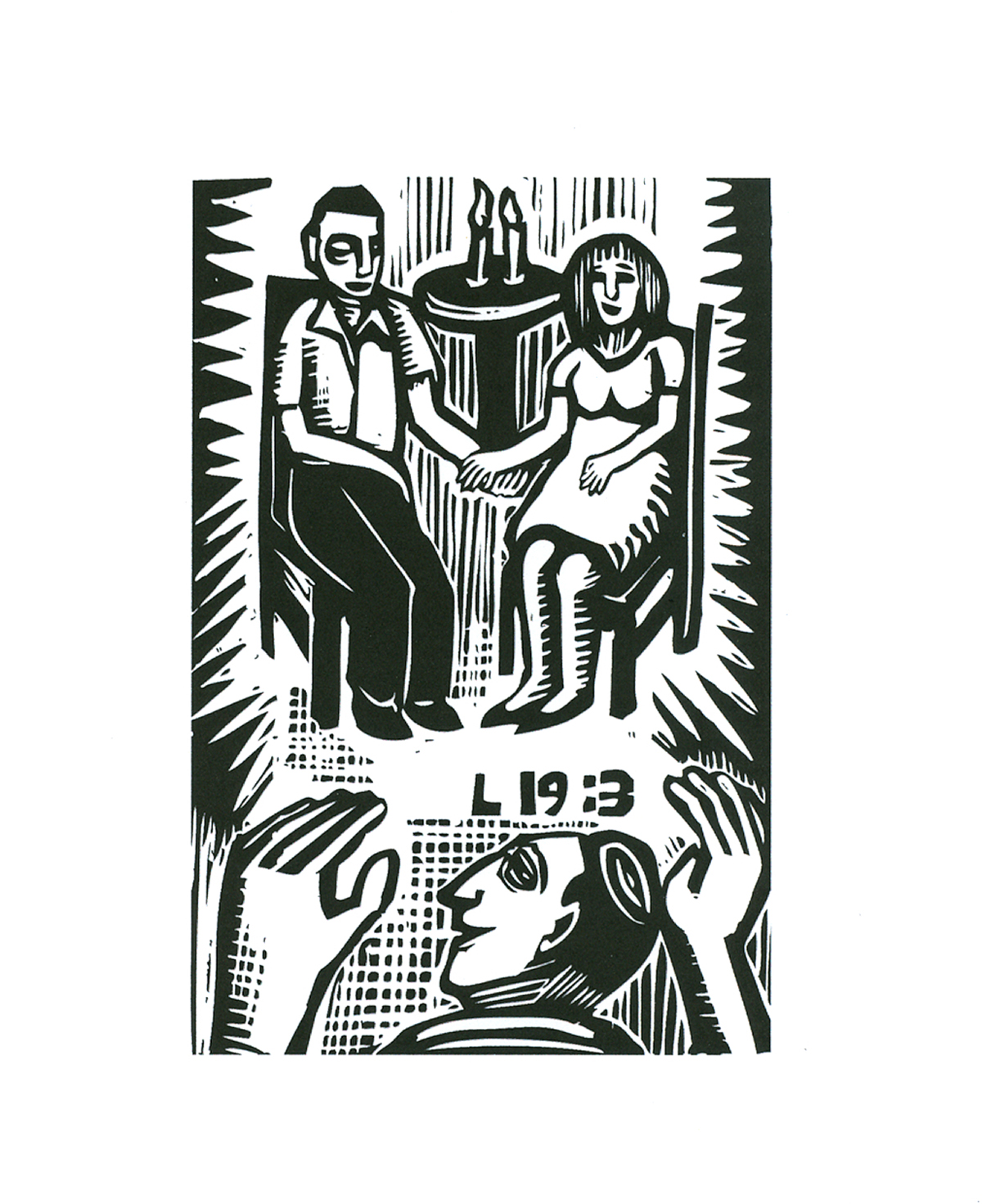 L 19:3 (2007), digital woodcut by David Holzman Courtesy the artist