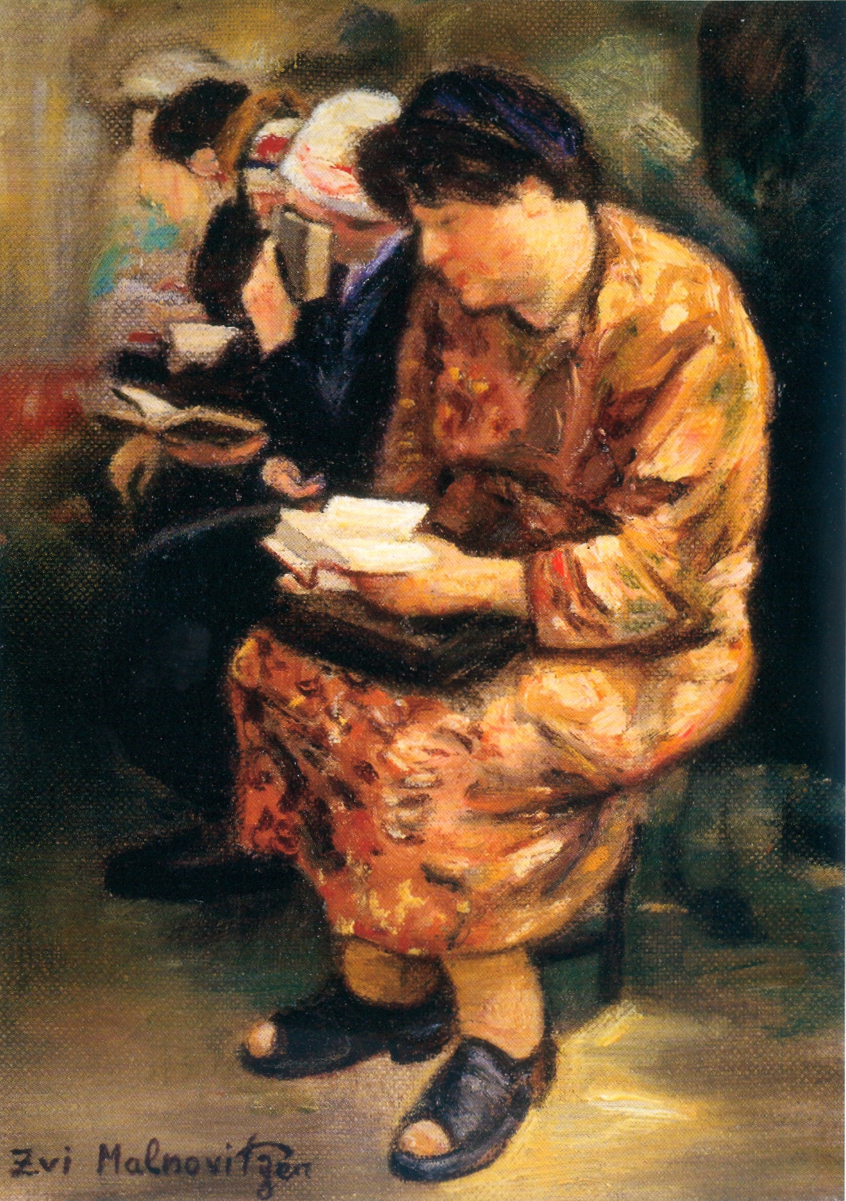 Women Praying (2006), oil on canvas by Zvi Malnovitzer Private Collection, New York