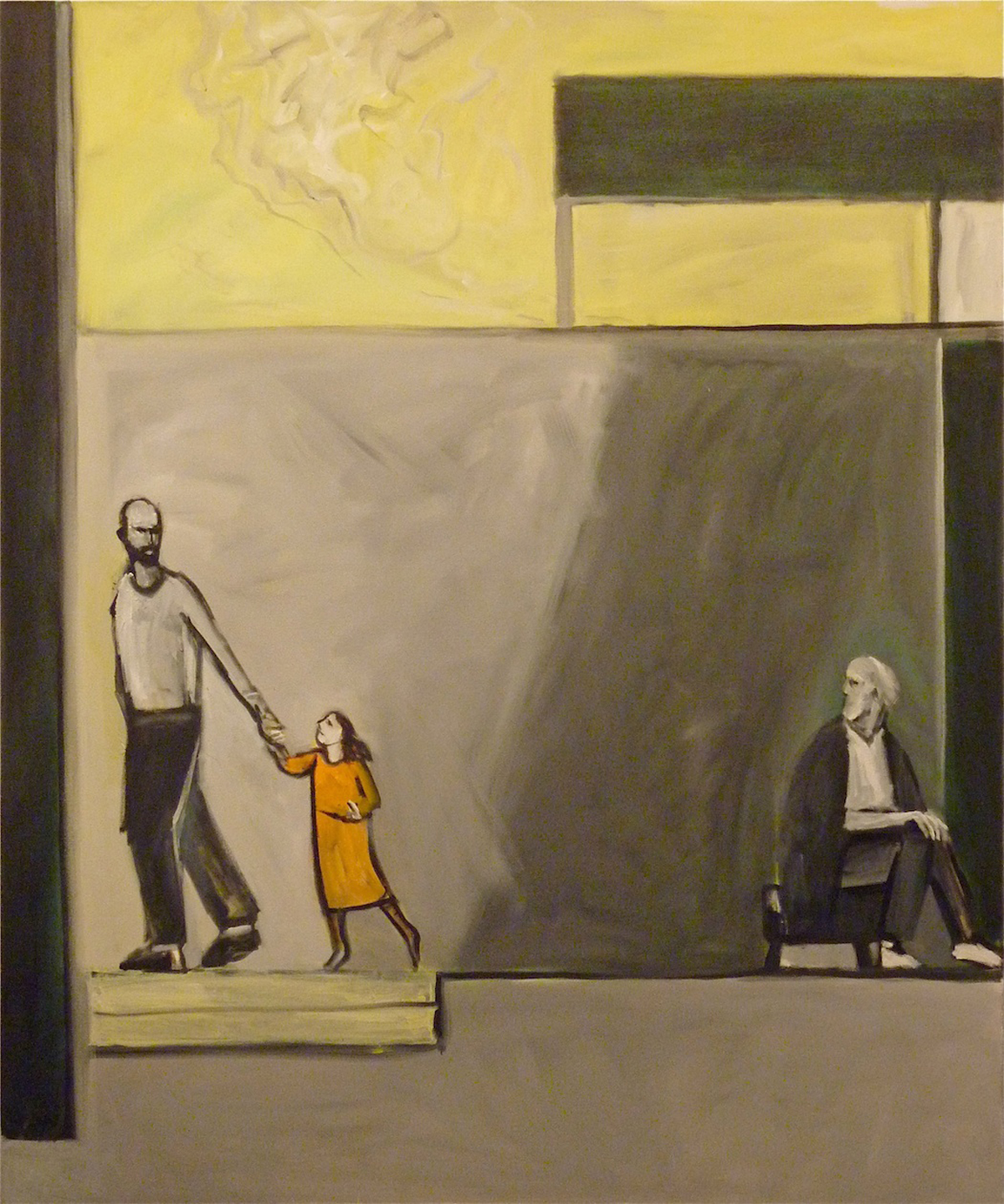 Isaac Comforted (2008) Oil on canvas, 6' x 5' by Richard McBee