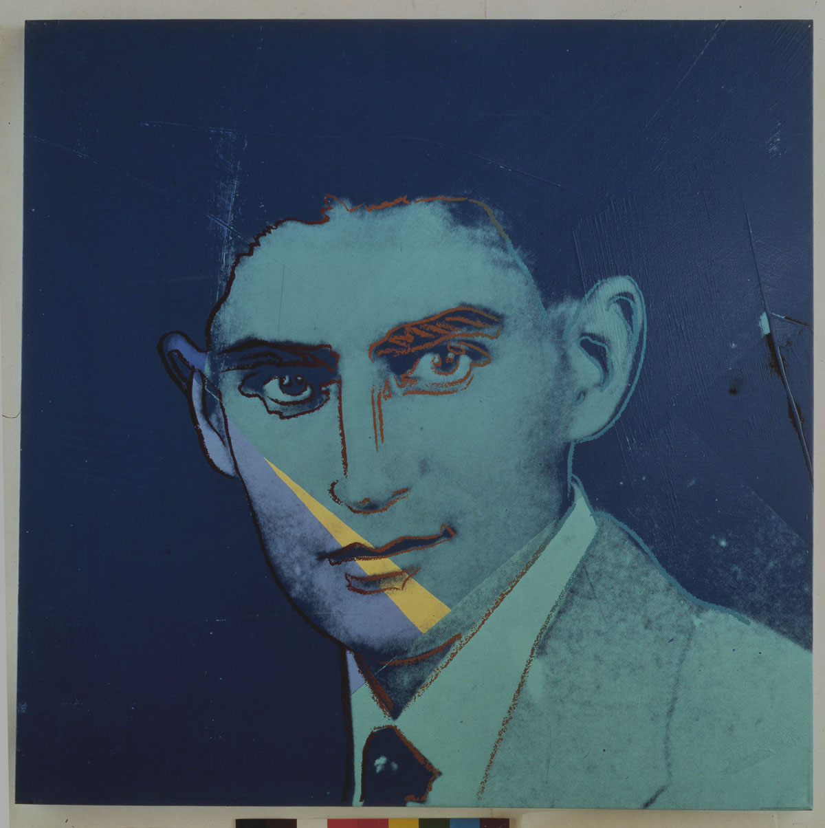 "Franz Kafka (1980) acrylic and ink on canvas by Andy Warhol ""Ten Portraits of Jews of the Twentieth Century"" Jewish Museum, New York"