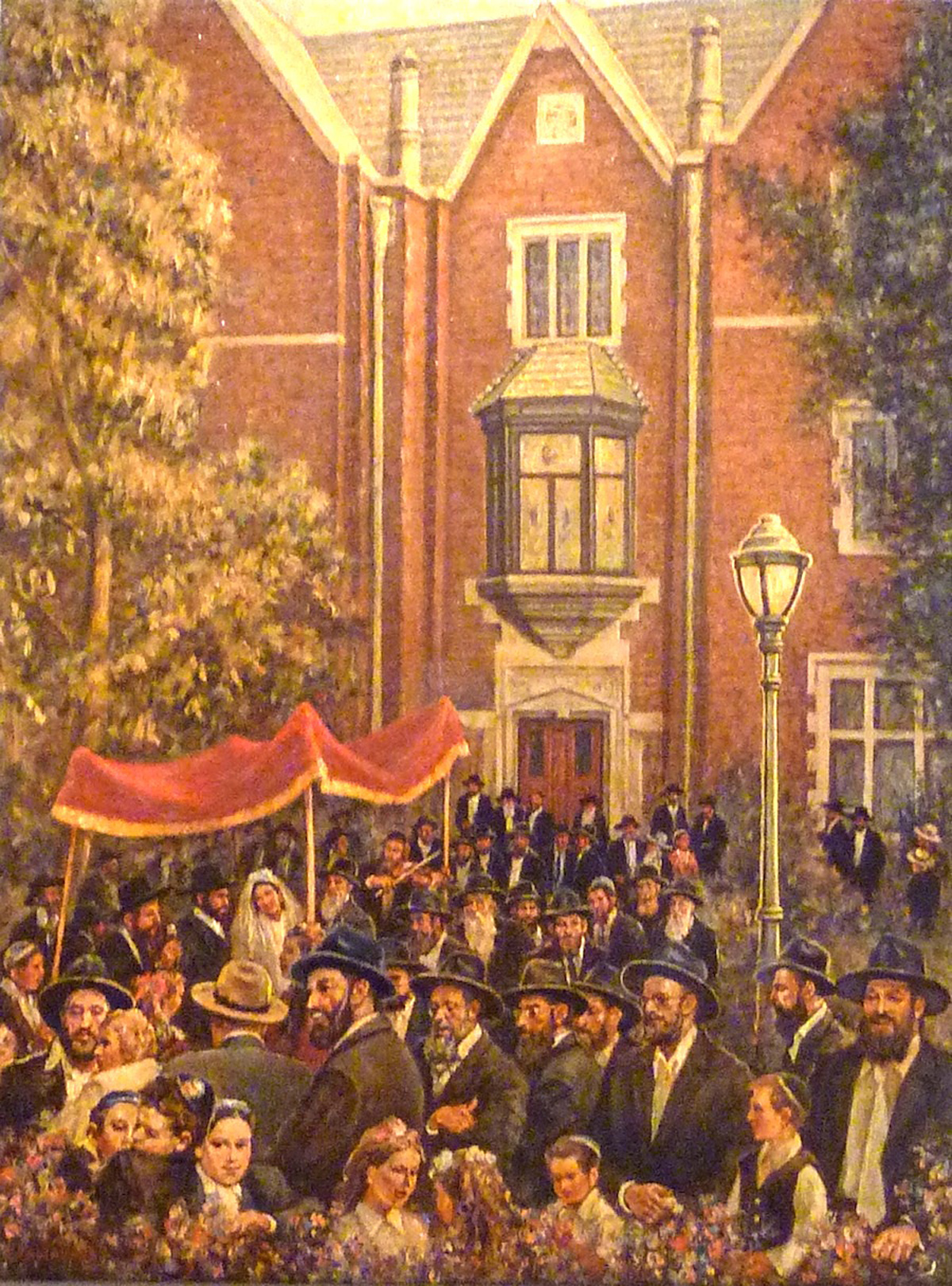770 Wedding, (40 x 30) oil on canvas by Venyamin Zaslavsky Courtesy Chassidic Art Institute