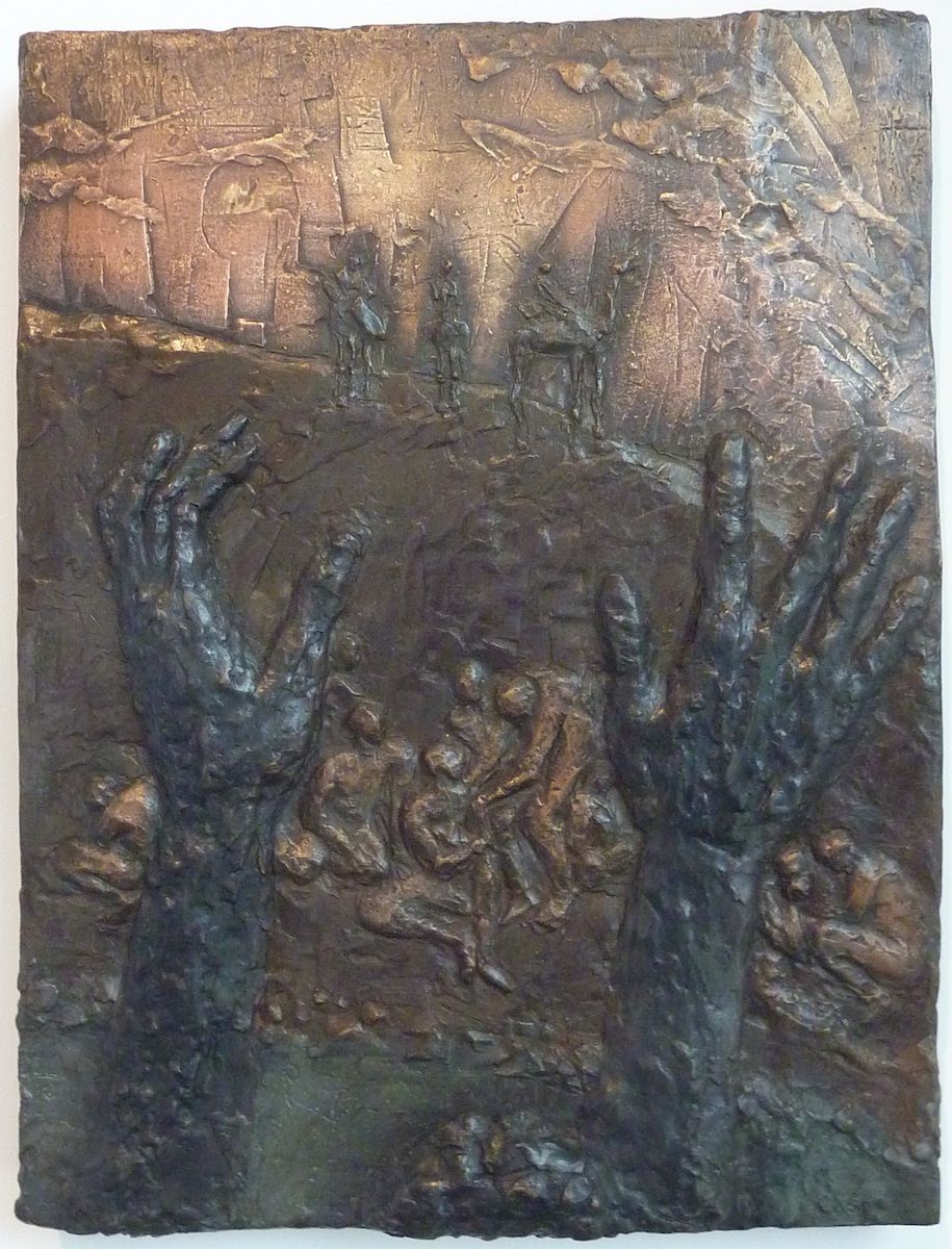 Joseph in the Pit (2012) 19 x 14, bronze relief by Lynda Caspe Courtesy Derfner Judaica Museum – Hebrew Home at Riverdale