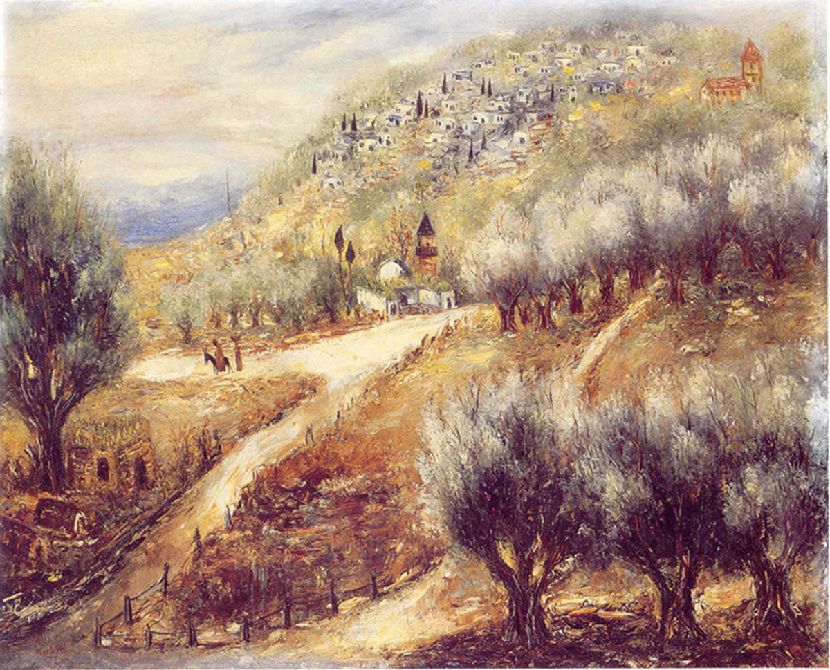 Mount of Olives (ca. 1935) oil on canvas (26 x 32) by Reuven Rubin Courtesy of Sotheby's Tel Aviv