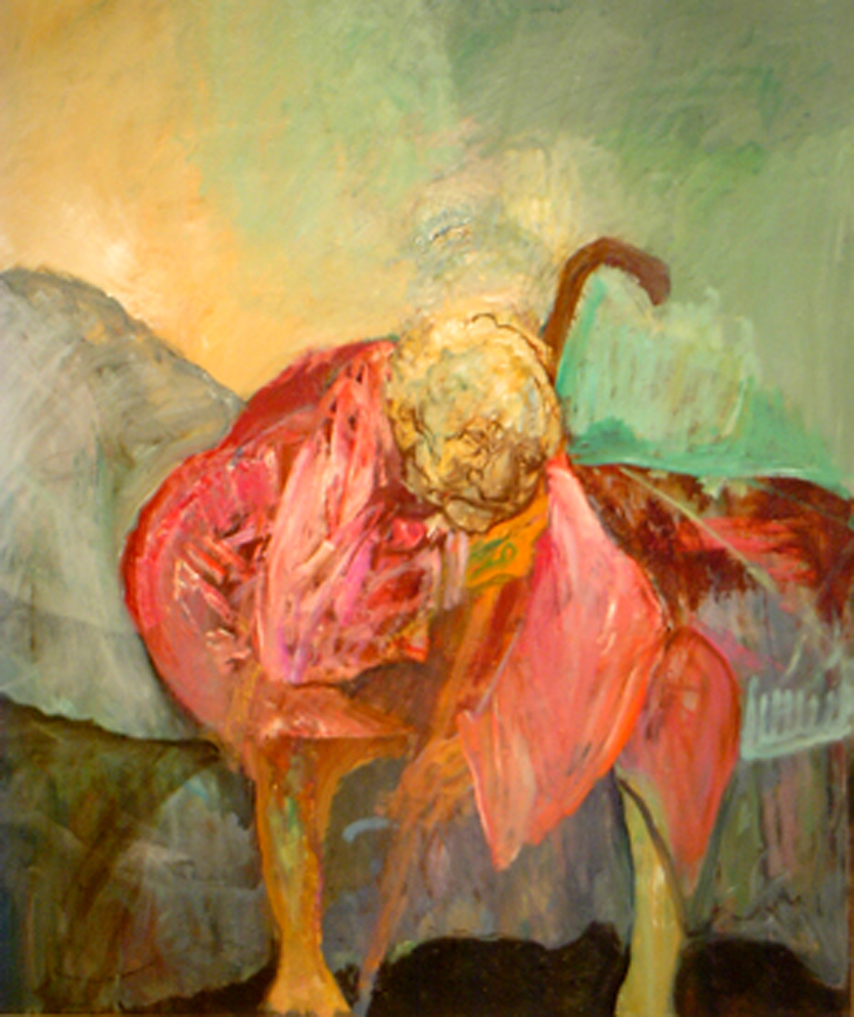 Old Woman in Red (1957-2003) oil on canvas (55 x 42) by Hyman Bloom Courtesy of the artist