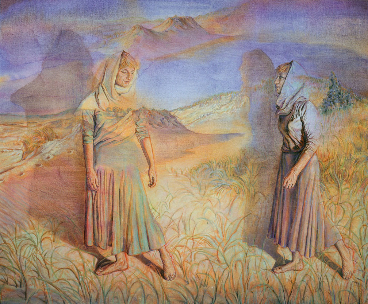 The Story of Ruth and Naomi (1988) Oil on canvas by Ruth Weisberg  Courtesy Jack Rutberg Fine Arts, L.A.