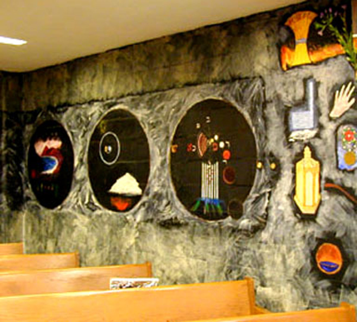 Genesis Corner, Mural by Archie Rand (ca. 1977) B'nai Yosef Synagogue, Brooklyn, New York