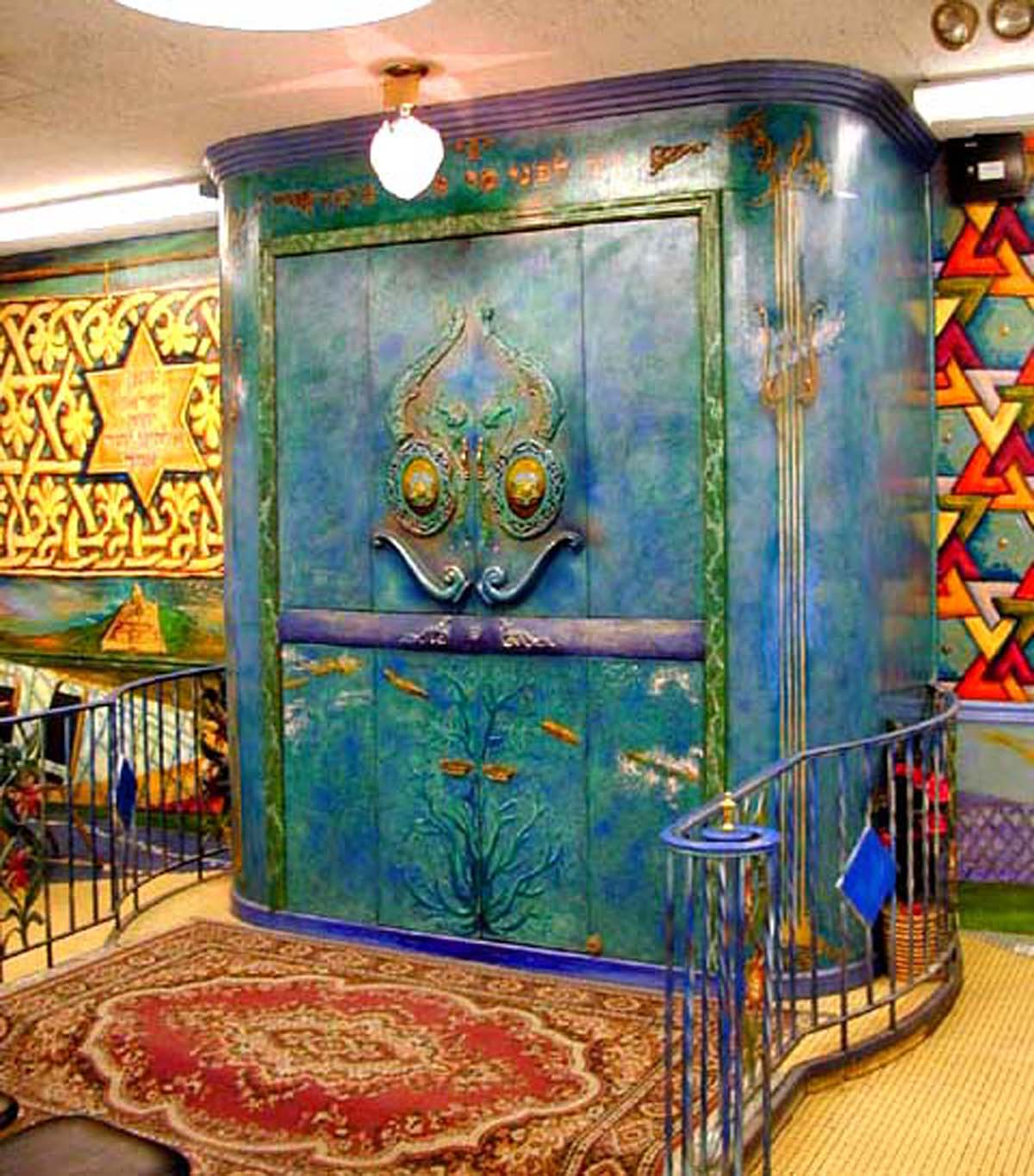 Torah Ark by Archie Rand (1978) B'nai Yosef Synagogue, Brooklyn, New York