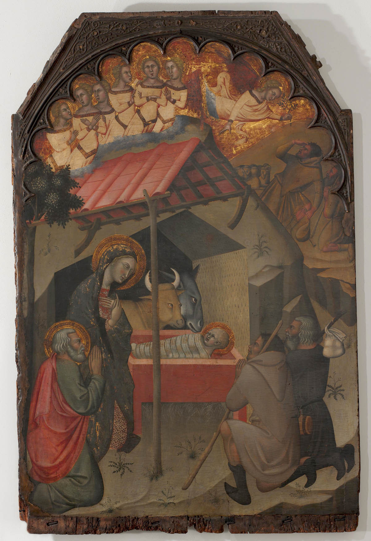 Adoration of the Shepherds (c.1374) Tempera on panel by Bartolo di Fredi Courtesy The Metropolitan Museum of Art, Cloisters Collection