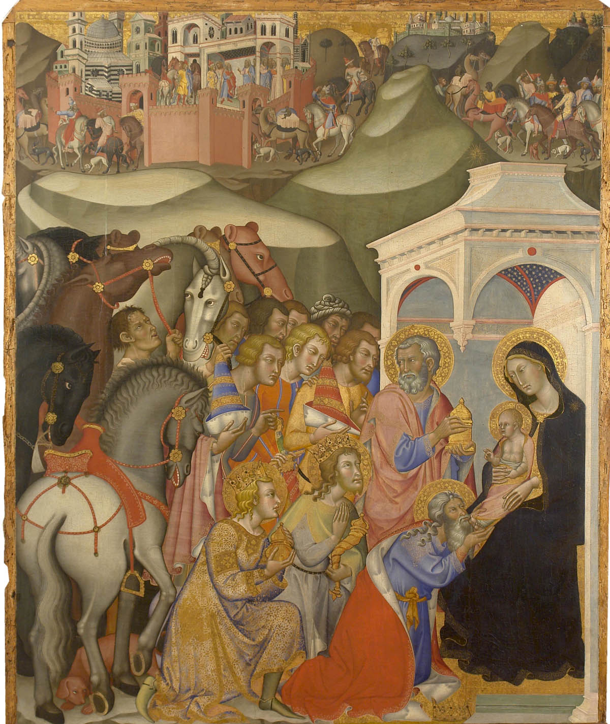 Adoration of the Magi (c. 1375-1385) Tempera on panel by Bartolo di Fredi Courtesy Ministero per i Beni e le Attivita Culturali, Pinacoteca Nazionale di Siena