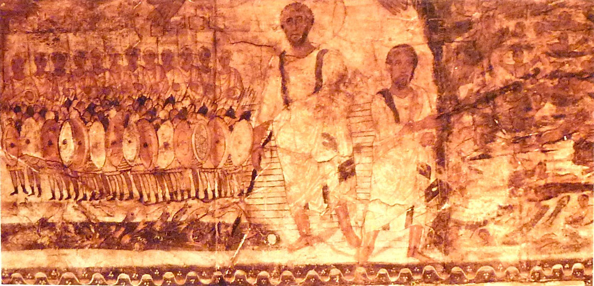 Exodus at the Sea (section two) - Dura Europos (245 CE) Courtesy National Museum, Damascus, Syria