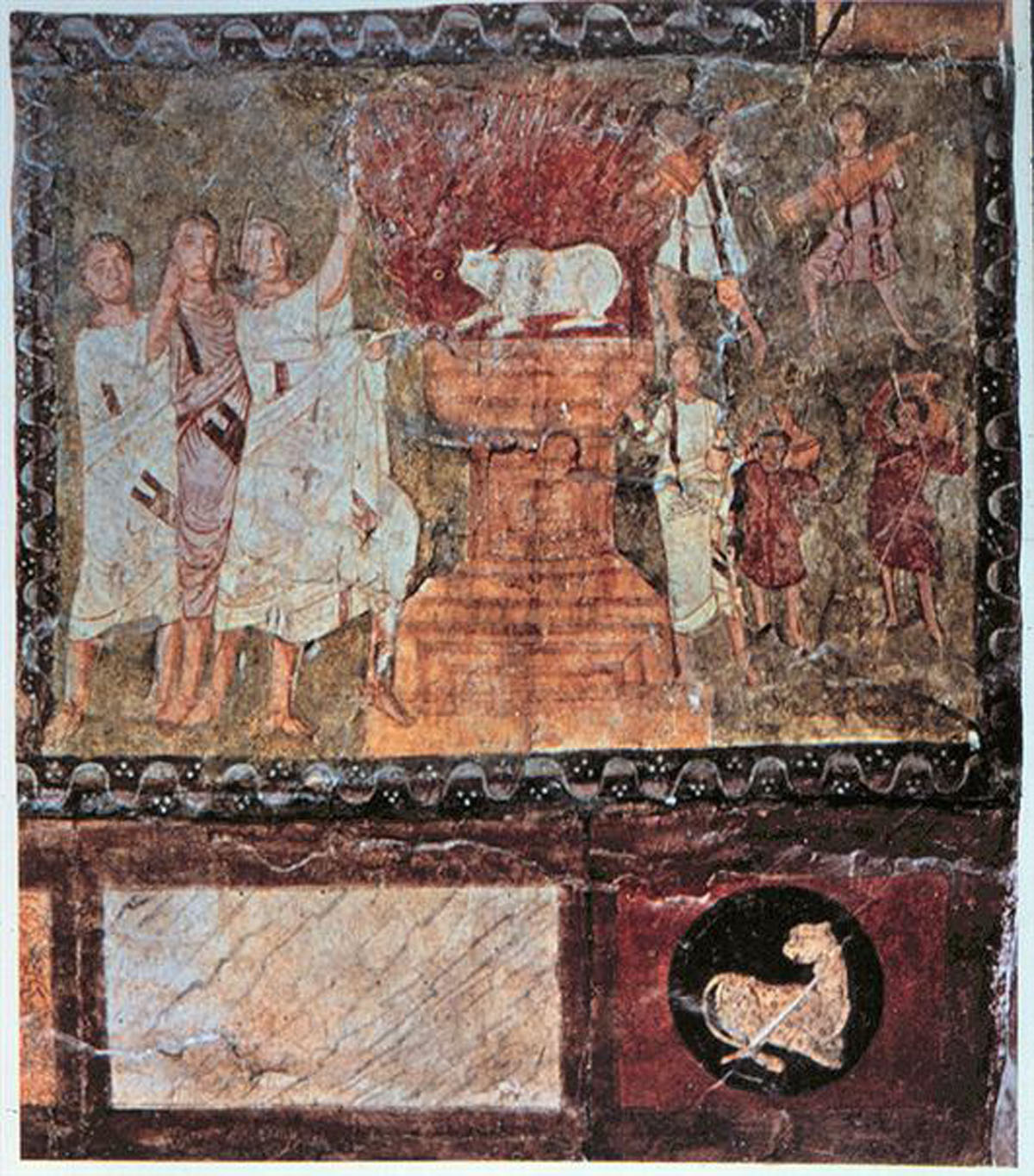 Elijah on Mount Carmel - Dura Europos (245 CE) Courtesy National Museum, Damascus, Syria