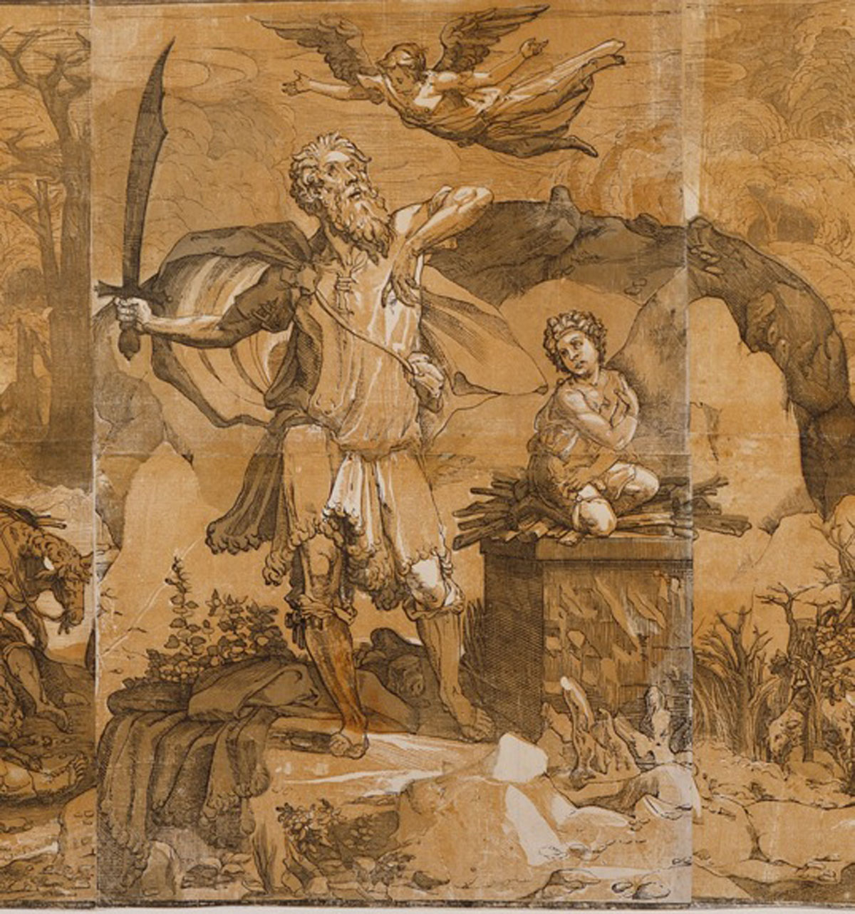 Moses Breaking the Tablets of the Law (detail) (1590), Andrea Andreani after Domenico Beccafumi Courtesy Museum of Fine Arts Boston
