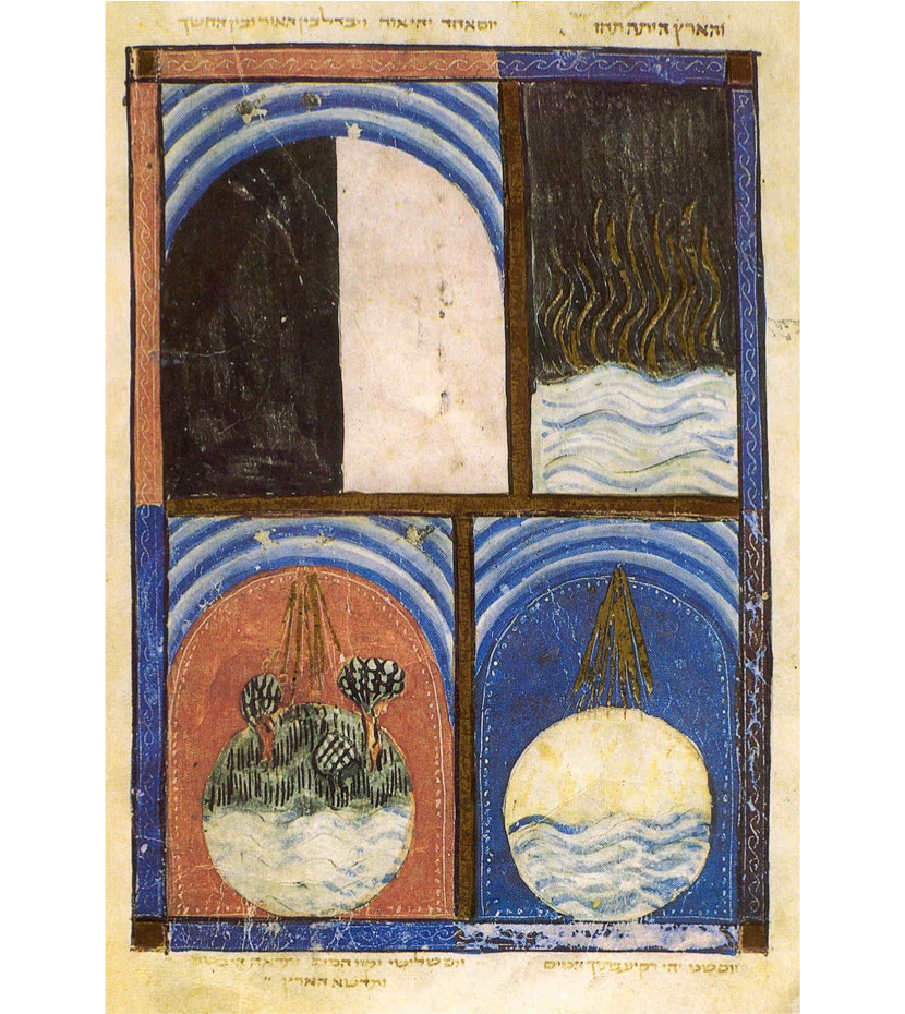 Creation - Golden Rays - Sarajevo Haggadah, (1350): Courtesy National Museum of Bosnia and Herzegovina