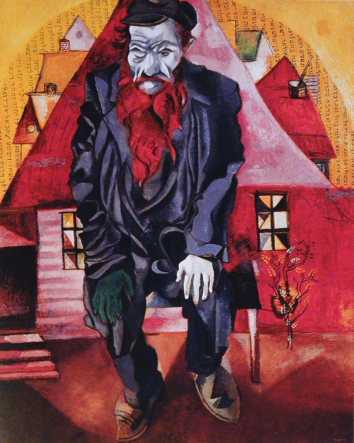 Jew in Bright Red (1915) by Marc Chagall; The State Russian Museum, St. Petersburg Copyright, 2001 Artists Rights Society (ARS), New York / ADAGP, Paris Date)