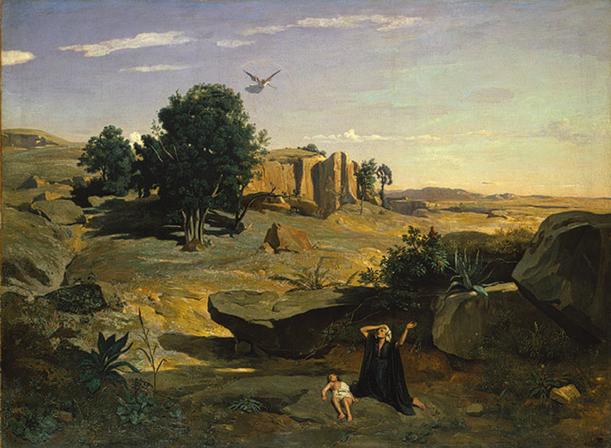 Hagar in the Wilderness (1835) oil on canvas by Camille Corot Courtesy The Metropolitan Museum of Art, New York