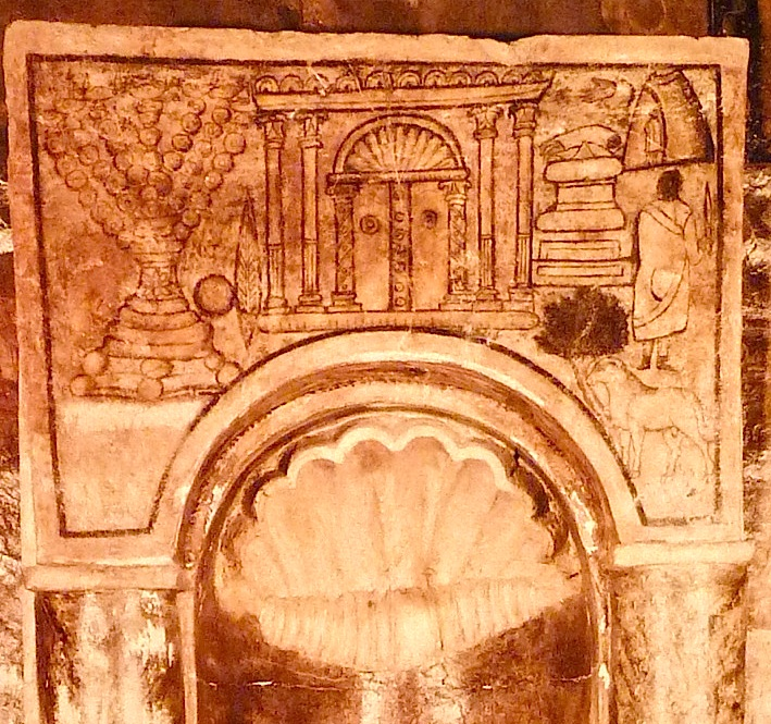 Torah Niche Menorah, Temple, Akeidah – fresco (3rd CE)  Dura Europos Synagogue Courtesy National Museum, Damascus, Syria