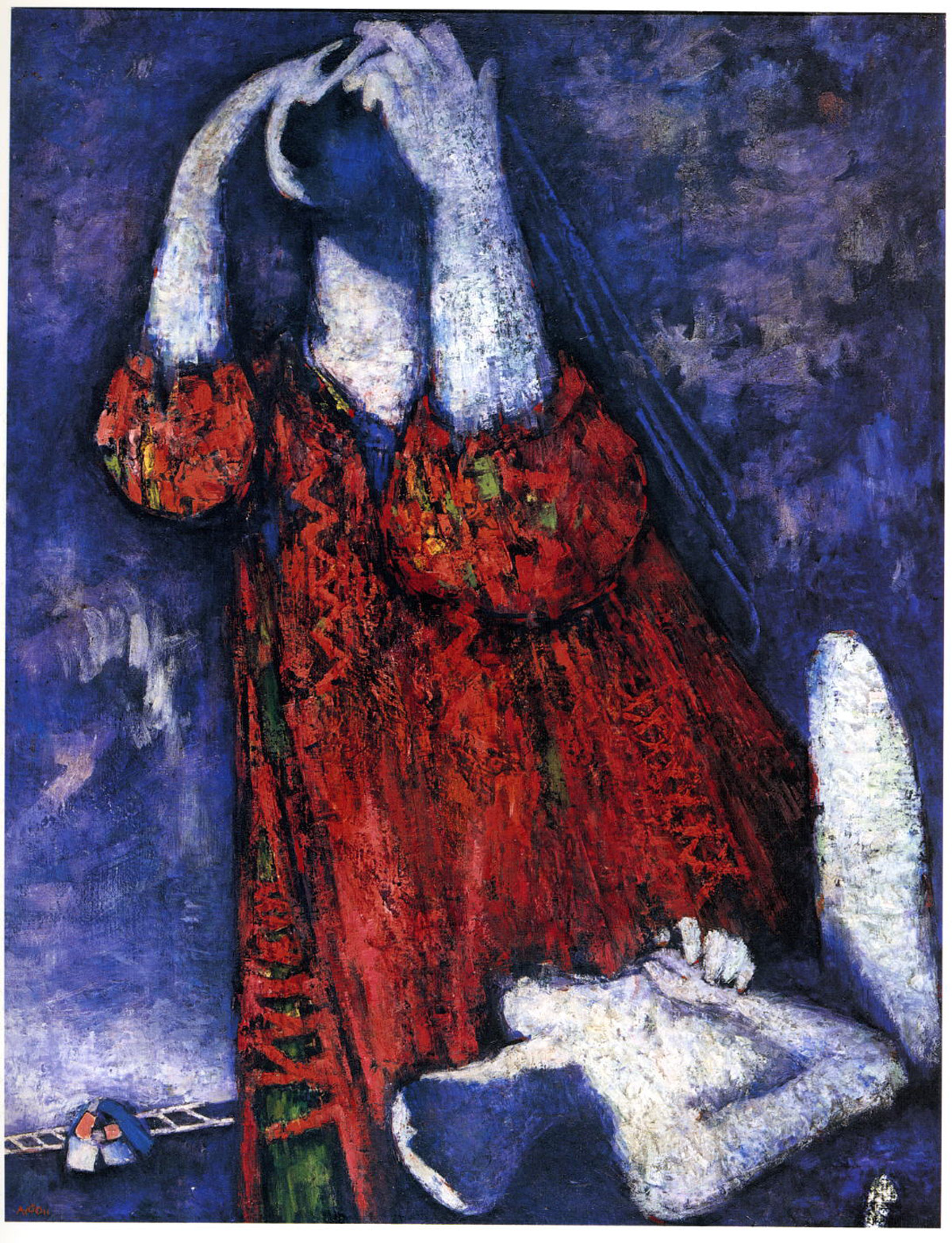 Sarah (1947) oil on board by Mordechai Ardon