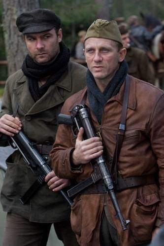 Liev Schreiber as Zus Bielski and Daniel Craig as Tuvia Bielski Courtesy Paramount Vantage Pictures