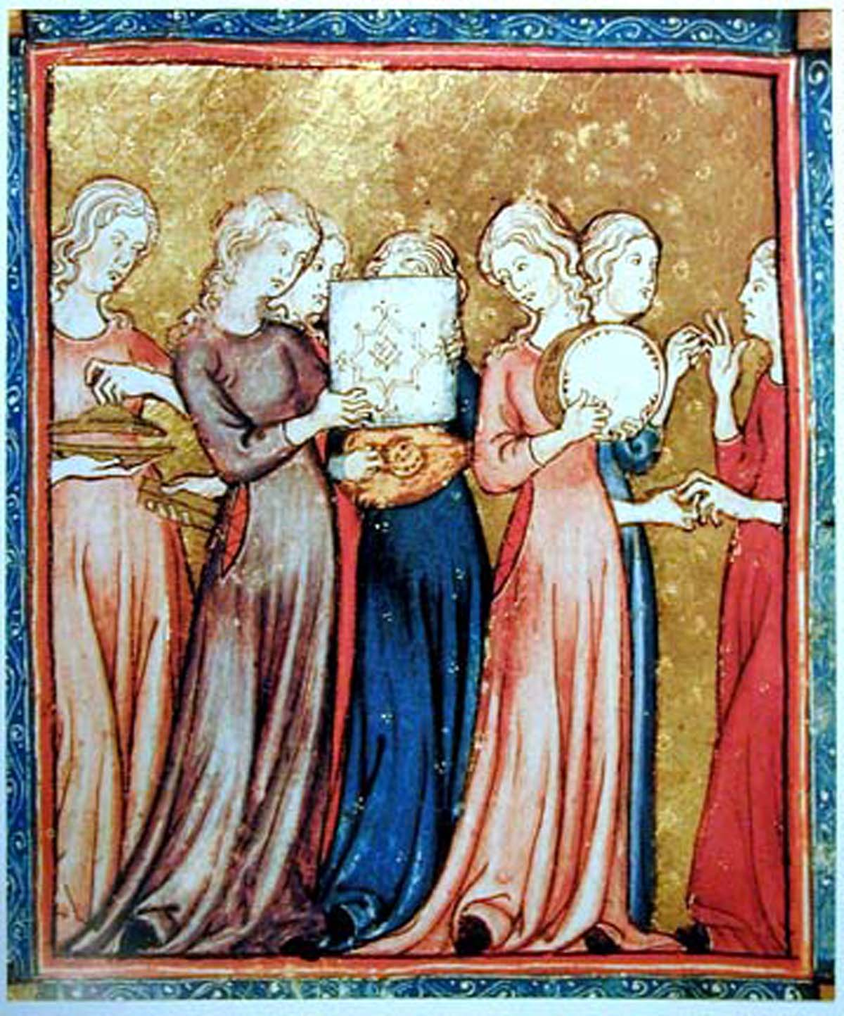 Miriam's Song, Golden Hagaddah, Spain, Barcelona 1320