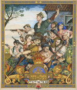 Trumpeldor's Defense of Tel Hai (1936) by Arthur Szyk Courtesy The Robbins Family Collection