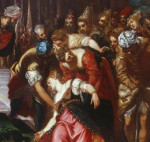 Esther Before Ahasuerus (1548); detail:  Esther Swoons; oil on canvas by Tintoretto Courtesy Royal Collection, Windsor Castle, Windsor, England