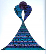 """Goldberg Ketubah (1974) Acrylics and ink on paper by David Moss Courtesy """"Letters of Love"""" by David Moss (2004)"""